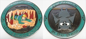 Bat-Bubba's Caving Geocoin - Black Nickel XLE 50