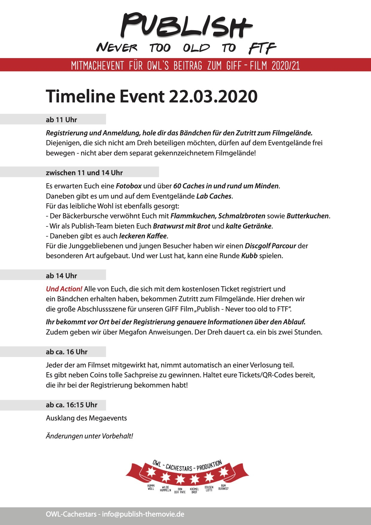 Publish Timeline