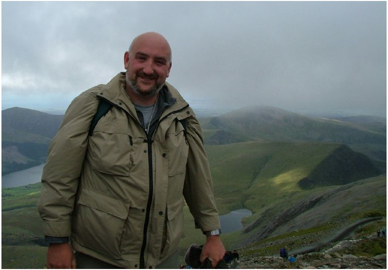 Simply Paul at the top for a geocache event in September 2004