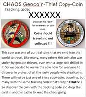 Chaos coin card