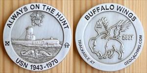 2007 Buffalo Wings Geocoin - Navy