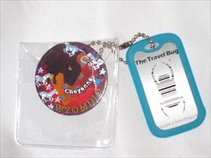 TB48AZX) Travel Bug Dog Tag - Wyoming Pog