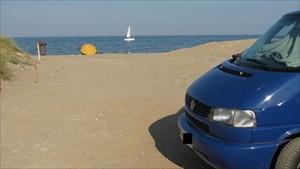 Cachemobil am Strand