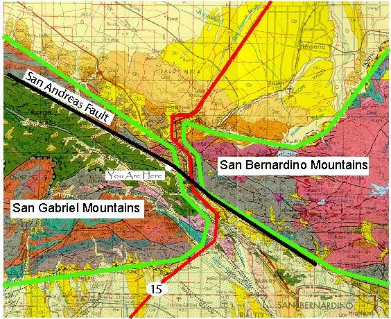 Cajon Pass Fire Map.Gcq7z7 San Andreas Fault Cajon Pass Earthcache Earthcache In