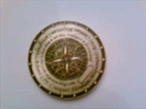 Mapamundi Coin at home in Hannover, Germany