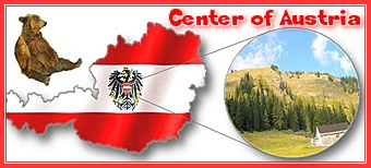 Banner: Geographischer Mittelpunkt Österreich