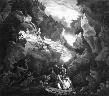 Kulisy pro provedení Čarostřelce v roce 1822 ve Výmaru