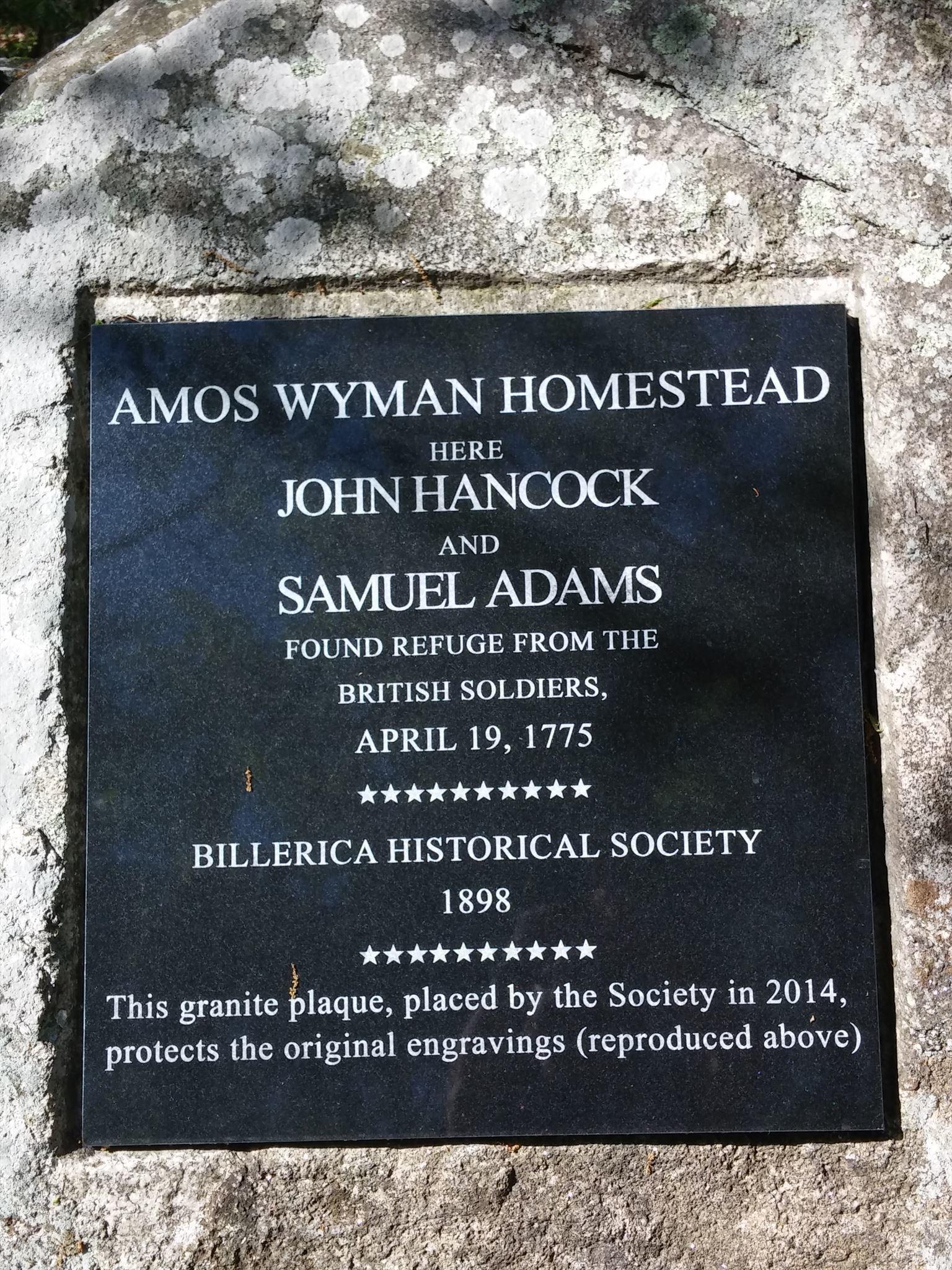Amos Wyman Plaque