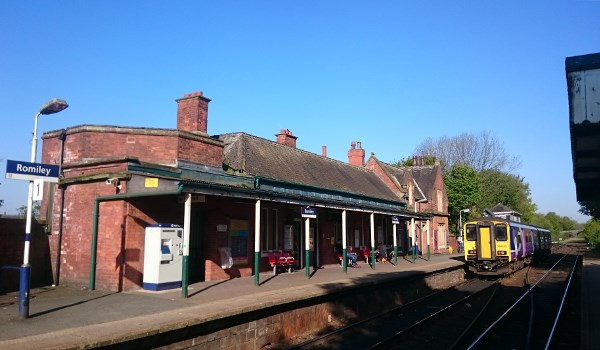 Romiley Station today