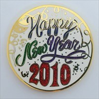 New Years 2010 Geocoin front