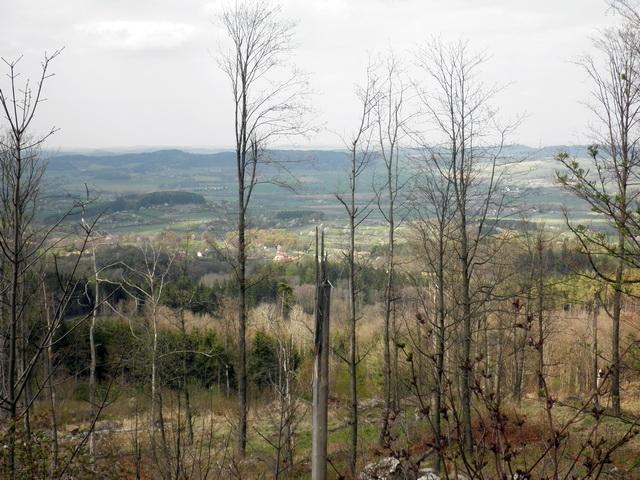 Výhled z Javorové skály do kraje