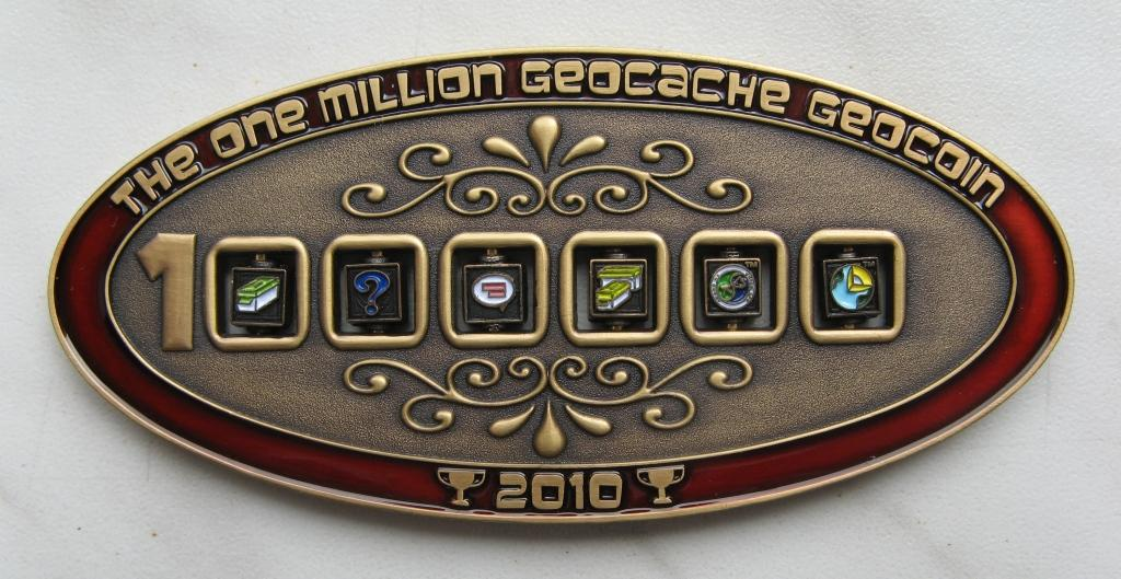 1 Million Geocache Geocoin