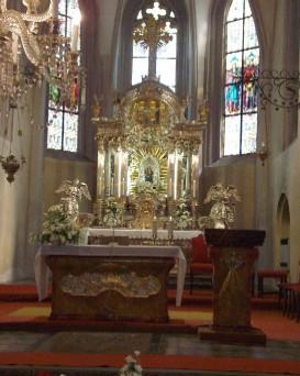 Kostel Povyseni svateho Krize v Podebradech