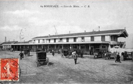 gare du Médoc en bois