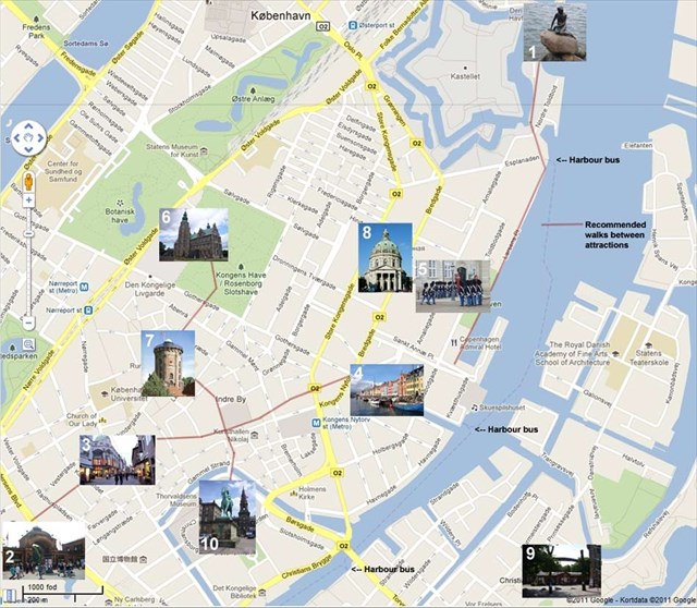 GC2XYBM A Tourist in Copenhagen Multicache in Denmark created – Copenhagen Tourist Attractions Map