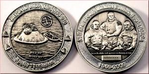 40 Years Man On The Moon - EARTH - Antik Silber