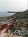 Halt Biber Polizei visits the sea shore at Rhodes.