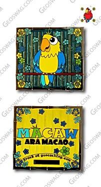 geocoins_macaw_yellow