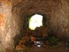 À saída da gruta