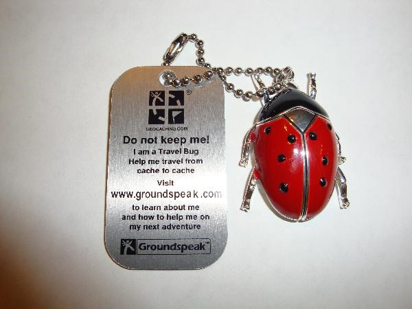 For Geocaching Ladybird or Ladybug Travel Bug Trackable Tag