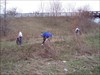 JT, towlebooth, and Minnesota picking up trash. log image