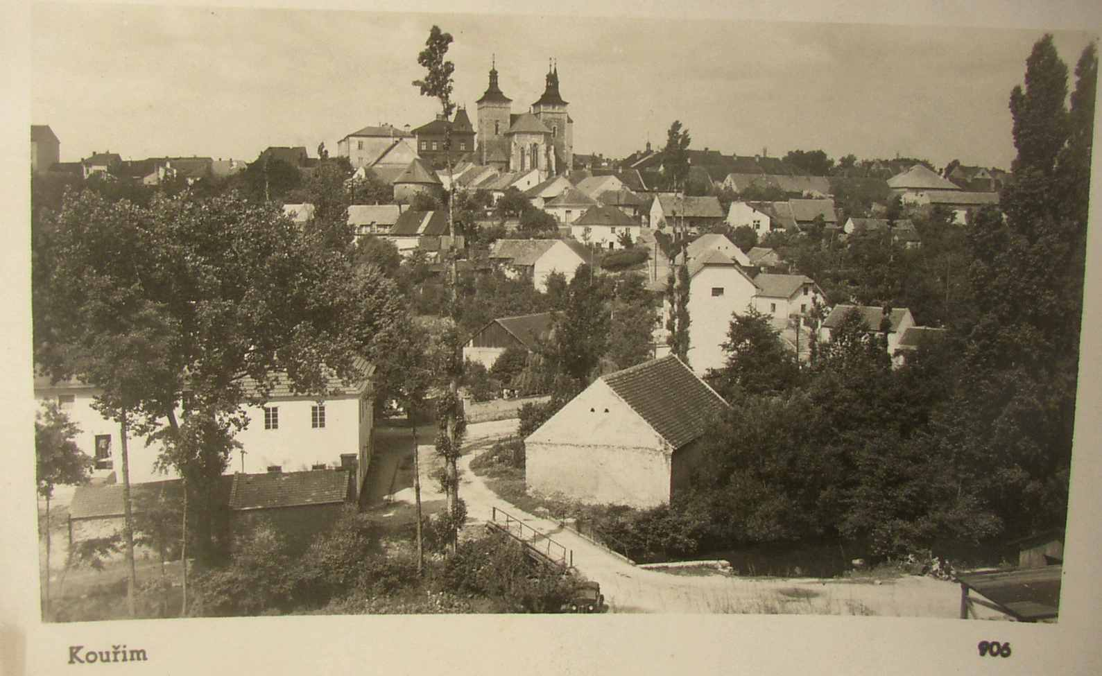an old postcard of Kourim (probably late 1930s)