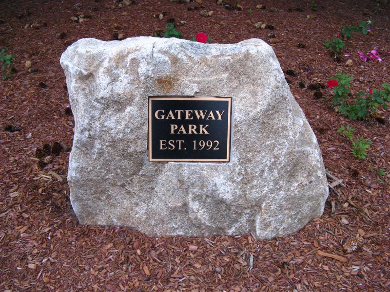 Gateway Park Plaque