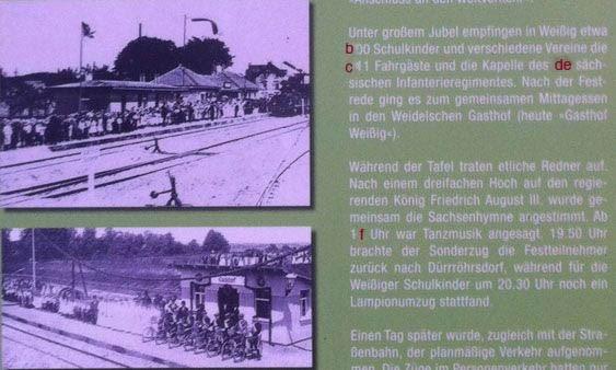 Finde das Bild auf dem Alten Bahndamm und notiere Dir den Wert für D