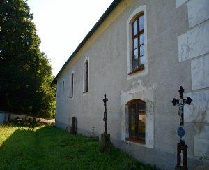 Severní strana kostela sv. Martina