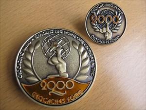 Geo Award Geocoin mit Pin - Vorderseite