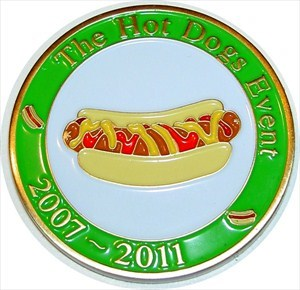 The Hot Dogs Event Geocoin