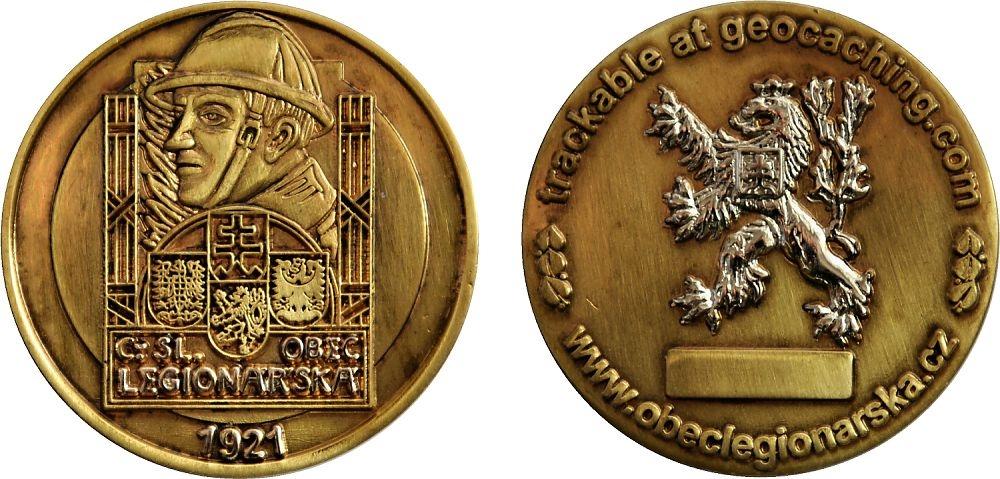 Czechoslovak Legionnaire Geocoin