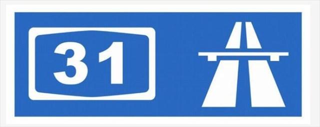 A31 Autobahnschild