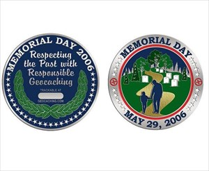 Memorial Day Geocoin