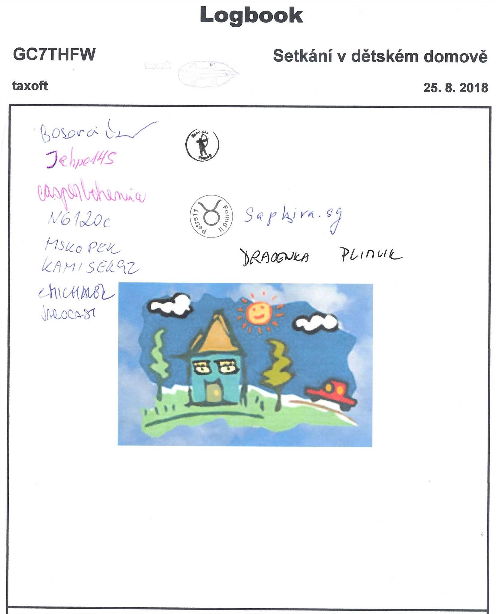 GC7THFW - Setkání v dětském domově - logbook