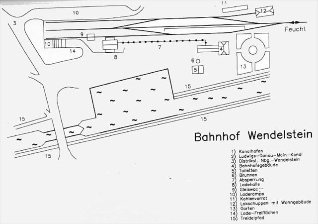 Der Gleisplan des Wendelsteiner Bahnhofs