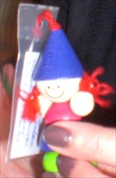 Die kleine Marlena besucht den Weihnachtsmann