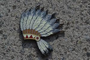 Indian Headdress Geocoin