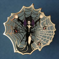 Black Widow - gold - front