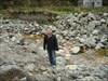 A travessia de pedra em pedra