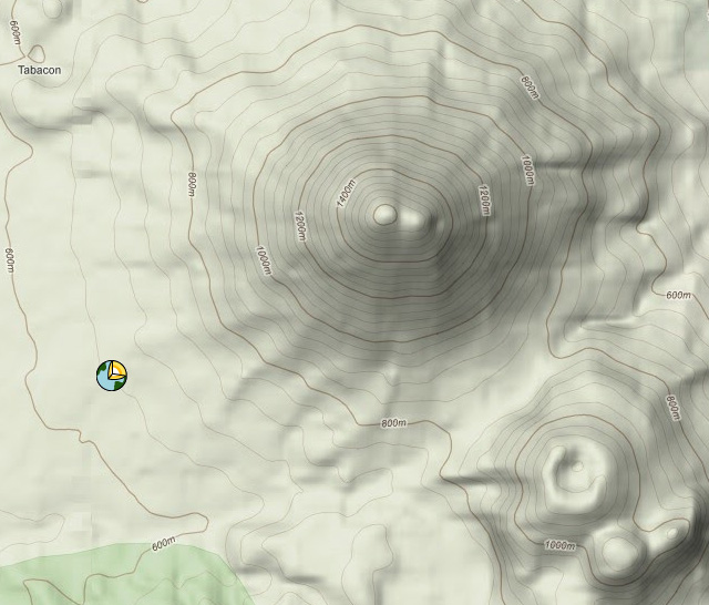 Arenal Volcano Topography