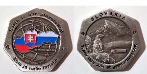 Insider's Silver Slovak Geocoin