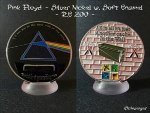Dark Side of the Cache Geocoin - Silber Nickel - R