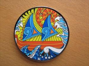 Polynesian Compass Rose 2014 Geocoin (Vorderseite)