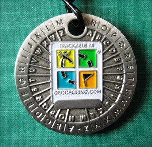 Unactivated Trackable for Geocaching Rot13 Gold Decoder Geocoin