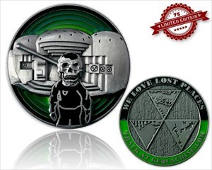 We Love Lost Places Geocoin Green Edition LE 75