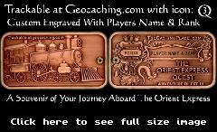 TB1EG2K) Orient Express Player Geocoin - Shuecrew's Orient