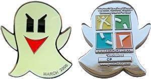Geoswag Coin & Pin Club Geocoin-VirtualCacheGhost