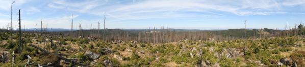 Panorama zČerné hory