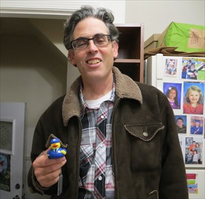 Sheldon with Sheldon Duck